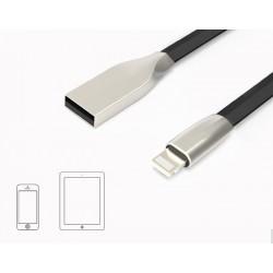 ADATKÁBEL - SILVER LINE - iPHONE - 100cm - fekete