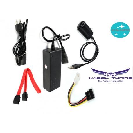 ÁTALAKÍTÓ - ADAPTER - USB 2.0 - DE SATA S-ATA 2.5 3.5 Hard Drive HD HDD Converter