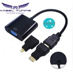 ÁTALAKÍTÓ - ADAPTER -  HDMI-ről VGA -ra , mini és micro átalakítóval