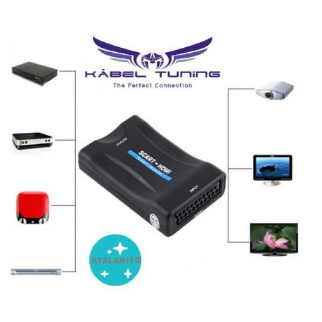ÁTALAKÍTÓ - ADAPTER - Scartról HDMI-re átalakító