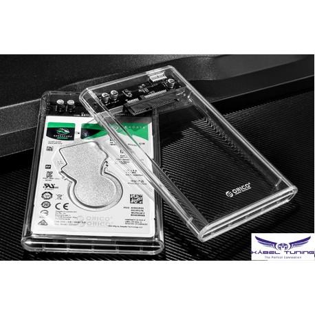 PC Kiegészítő - Külső HDD tok - átlátszó