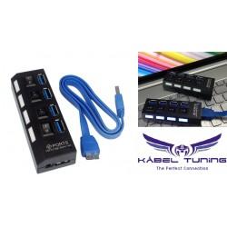 PC Kiegészítő - Aktív USB HUB - 4portos