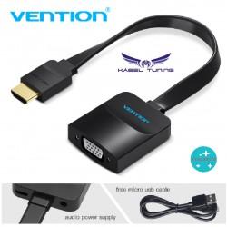 ÁTALAKÍTÓ - ADAPTER - HDMI-ről VGA-ra átalakító - Vention - kerek vagy lapos kábellel