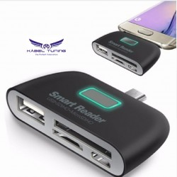 ÁTALAKÍTÓ - ADAPTER -  OTG adapter Micro USB male - MULTI