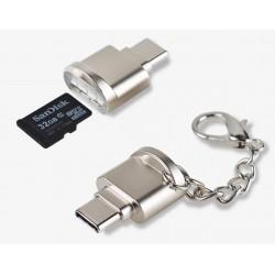 ÁTALAKÍTÓ - ADAPTER -  OTG Type C/ micro SD kártya
